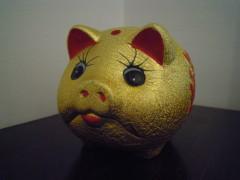 Ein goldenes Sparschwein