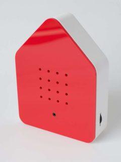 Hausförmiges Kästchen, rot